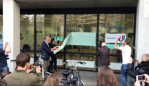 Officiële opening SpuiLAB210 door wethouder Piet Sleeking