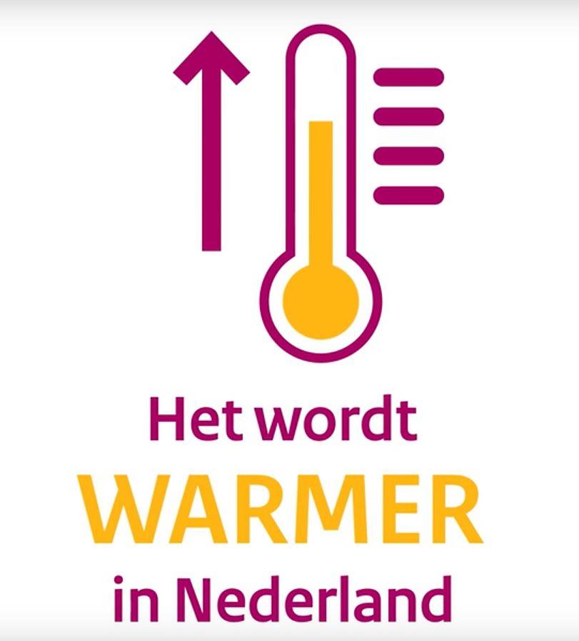 Nederland wordt steeds warmer